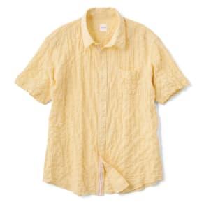 オーガニックコットン ショートスリーブシャツシリーズ シャーリングイエロー