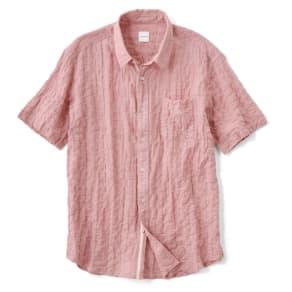 オーガニックコットン ショートスリーブシャツシリーズ シャーリングレッド
