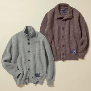 「GIM(R)」 英国羊毛混 ニットブルゾン