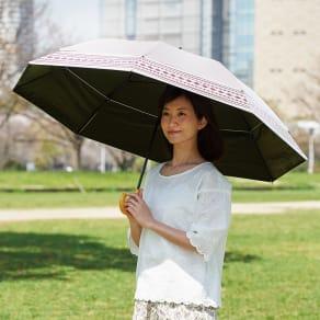 遮光1級ジャンボ日傘 のび~る ピンク