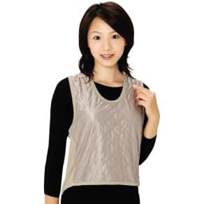 吸湿発熱繊維 保温ベスト 同色同サイズ2枚組