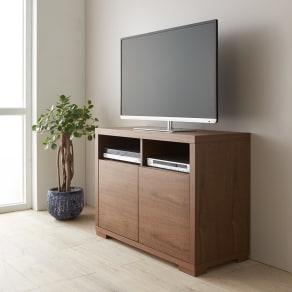 Texture/テクスチャー テレビ台キャビネット ウォルナット 幅98cm