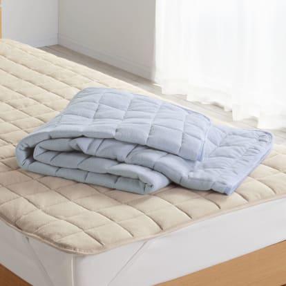 セミダブル(発熱するコットン「デオモイス」寝具シリーズ フランネルニットの敷きパッド)