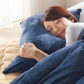 大判(布団を包めるなめらか毛布シリーズ 枕カバー(同色2枚組))