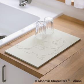 ムーミン soleau吸水・速乾・消臭キッチン用水切りボード(ドライングプレート)