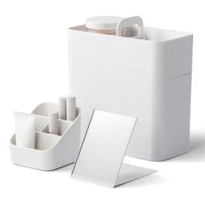 Like-it 持ち運びができる 樹脂製 メイクボックス