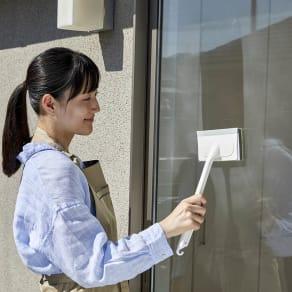 窓まるごとお掃除! 網戸ワイパー・窓ワイパー2個セット