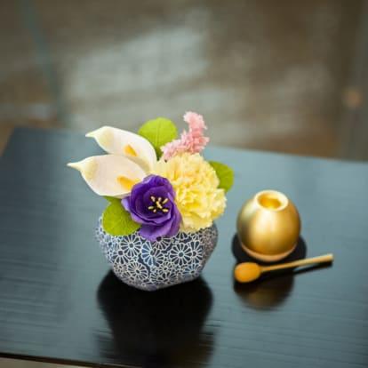 越前和紙のお供え花