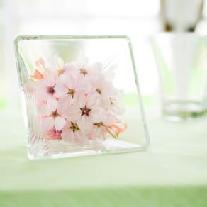 自然の美しさを閉じ込めた 桜のアレンジ(ガラスケース入り)
