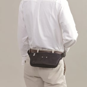 フランス製 カーフスリムウエストバッグ