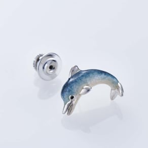 SATURNO/サツルノ SVピンブローチ イルカ(イタリア製)