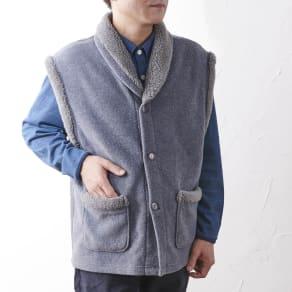 カインドケア/【紳士用】 フリースベスト ギフト箱入(日本製)