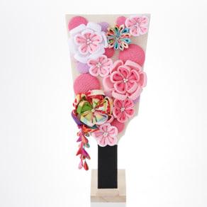〈京都 夢み屋〉ちりめんひな飾り 花かんざし羽子板