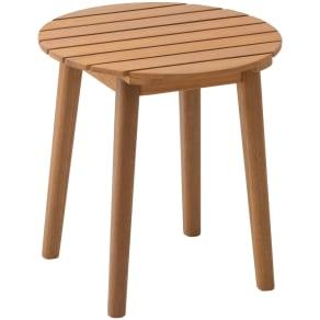 木製サイドテーブル ルーナ