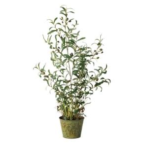 人工観葉植物オリーブ 高さ106cm 鉢カバーなし