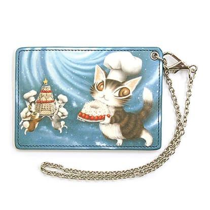 わちふぃーるど/お菓子BABY横1面パスケース 青い星のケーキ
