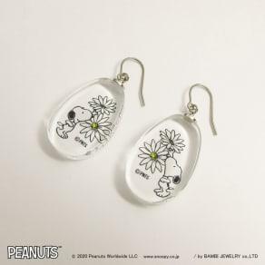 SNOOPY(スヌーピー)/スヌーピーガラスピアス flower