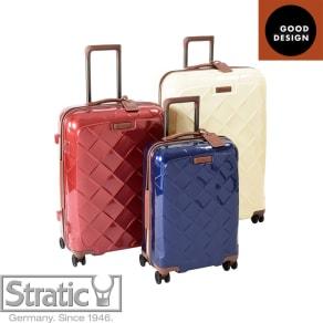 (Lサイズ 4輪/100L/4.36kg)Stratic(ストラティック)/「Leather & More」日本限定版 ハードスーツケース 大型(3-9902-75)|キャリーケース・キャリーバッグ