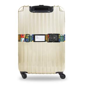 TSAロック付きスーツケースベルト 転写柄(アメリカ旅行の必需品)