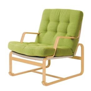 天童木工/Mシリーズハイタイプ両肘チェア M-0571(コゼットグリーン)ブルーノ・マットソン|デザイナーズ家具
