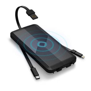 HACRAY(ハクライ)/4in1マルチ充電ケーブル内蔵型 ワイヤレスモバイルバッテリー