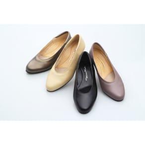 神戸シューズ 時見の靴/プレーンパンプス 3.5cm ウエッジヒール