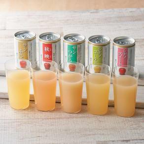 りんごジュース飲み比べ (5種 計30缶)