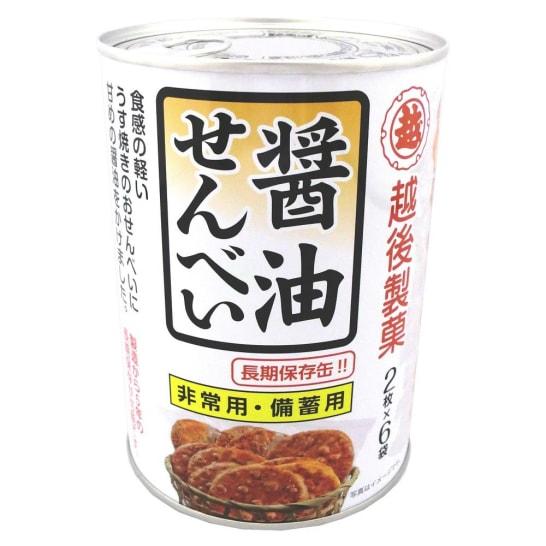 保存缶 醤油せんべい (1缶12枚入り×12缶)
