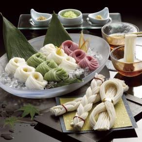 【お中元】島原手延素麺(末広・編み素麺入り) (8月上旬お届け)