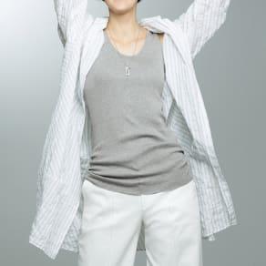 スビン綿 テレコ編み タンクトップ(サイズ2)