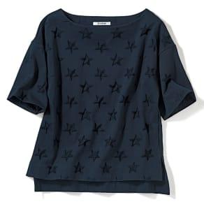 星柄リンクス ジャカードTシャツ