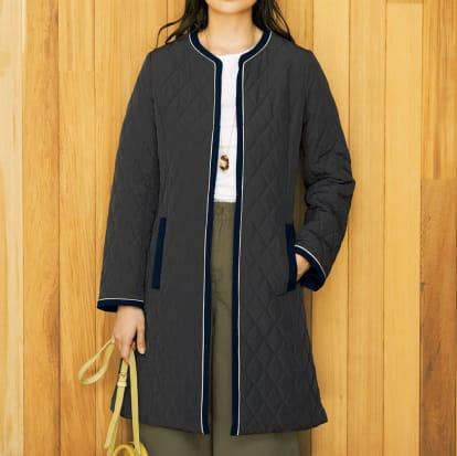 配色デザイン中わた キルティングコート