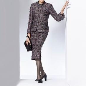 マリア・ケント社 リボンツイード スカート【2点以上で10%OFF】