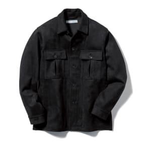 スエード調シャツジャケット