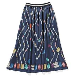 宝石柄プリントスカート