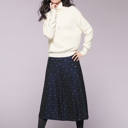 フランス素材 星柄 ジャカード スカート