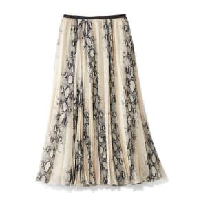 パイソンプリント プリーツ スカート(サイズ67)