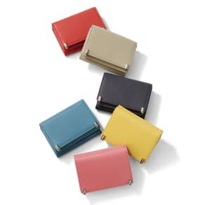 三つ折り コンパクト レザー財布