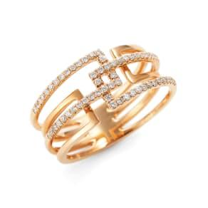 K18PG ダイヤ デザインリング