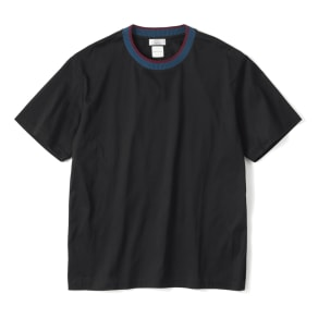 「i cotoni di ALBINI」 ニットドッキングTシャツ