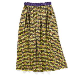 イタリア素材 ダックス柄 フレアスカート