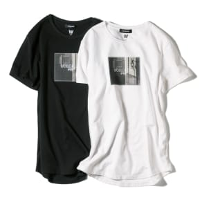 WORDROBE/ワードローブ プリントTシャツ フォト柄(ラインストーン付き)