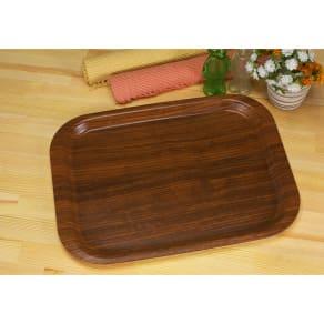 (Lサイズ)橋本達之助工芸/すべり止め加工の木目調トレー|日本製