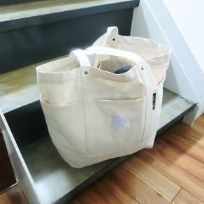 moz(モズ)/帆布トートバッグ LLサイズ|エルク