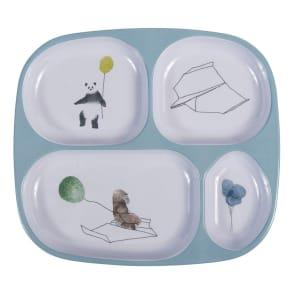 sebra(セバ)/4ルームメラミンプレートスカイ 子供食器