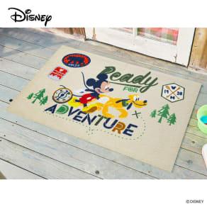 玄関マット ミッキー アドベンチャー 75×120cm|Disney(ディズニー)