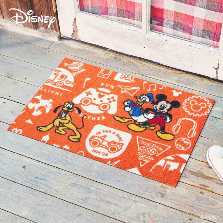 玄関マット Mickey/ミッキー 50×75cm[Disney/ディズニー]