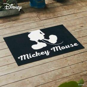 玄関マット ミッキー シルエット 50×75cm|Disney(ディズニー)