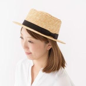 田中帽子店/麦わら帽子 ポークパイ型つば広ハット レディース カリマ