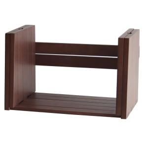 スライド伸長式 天然木ブックスタンド